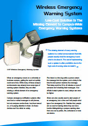 Wireless Emergency Warning System Bulletin