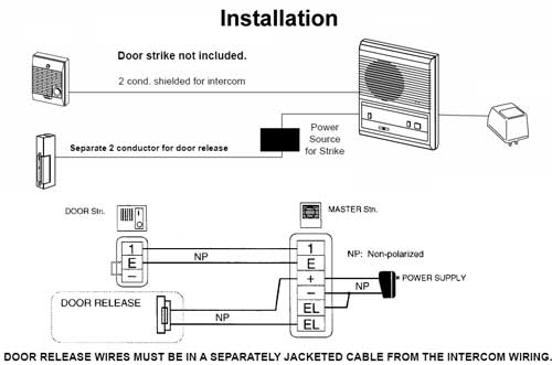 Ap1042 on door strike intercom access control diagram